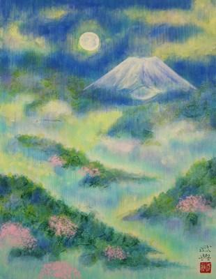 月光富士山々