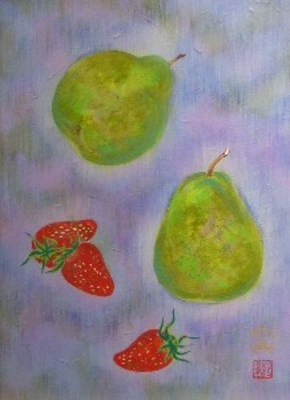 洋梨とイチゴと